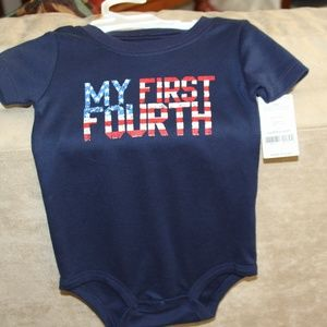 """CARTER'S ONE PIECE NAVY BLUE """"MY FIRST FOURTH"""""""